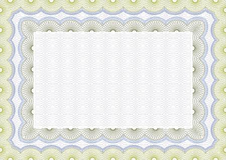 Secure blank guilloche certificate