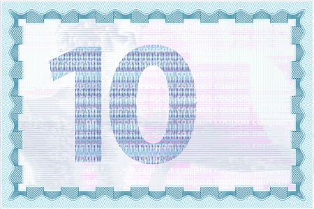 Hi detailed and secure coupon guilloche template and currency backgrounds