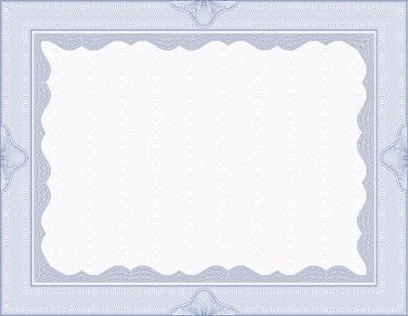 prepaid: Vector secure blank guilloche certificate Illustration