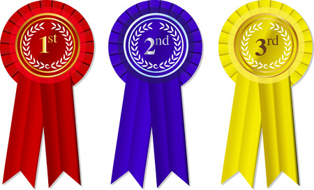 Rosettes and Ribbons 1st - 2nd -3rd place Vector