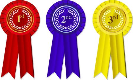 Rozetten en linten 1-2 - 3e plaats