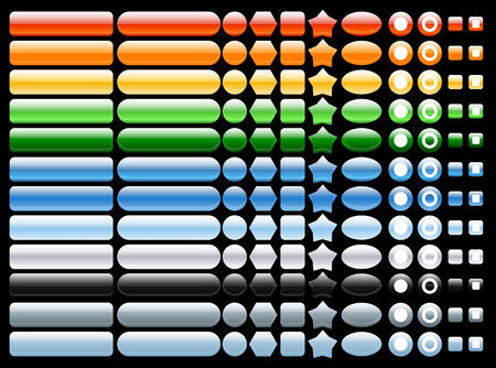 rollover: colored and shiny web buttons 12 colors