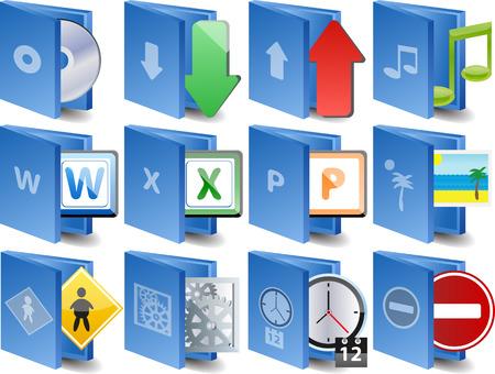sobresalir: Documento icono conjunto de iconos de equipo  Vectores