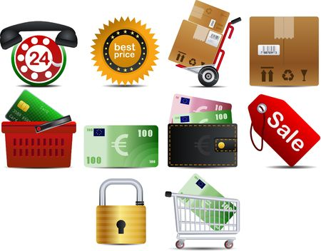 shoping: shoping set of 10 icons part 2 Illustration