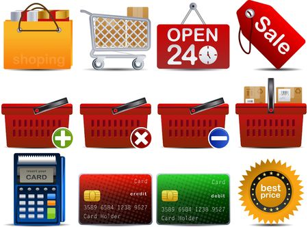 shoping set of 12 icons part 2 Stock Vector - 6840257