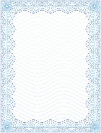 SECURE background BLANK CERTIFICATE