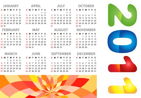 Calendar grid 2011 year english Stock Vector - 7784102