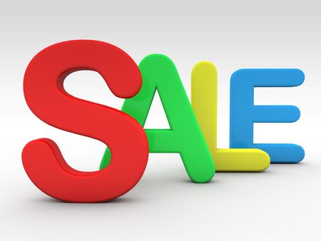 for text: Sale letters 4 diferent colors