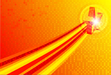 abstract red yellow backgrounds with star