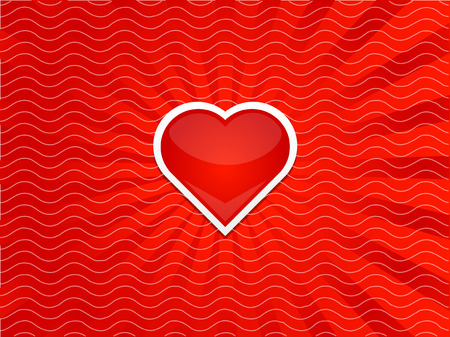 Heart with stripes red background Illustration