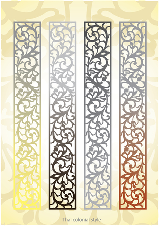 lanna: Thailand-northern colonial  decorative style with Nouveau movement Illustration