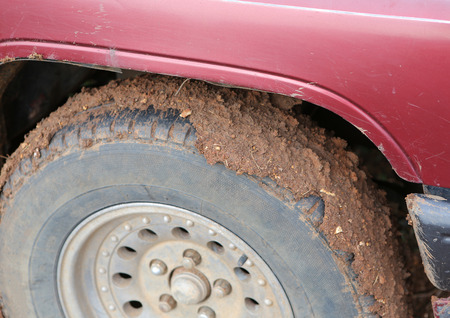 muddy: Close Up a muddy wheel
