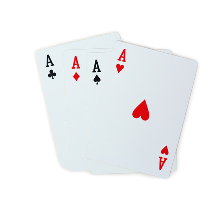 four aces poker playing cards
