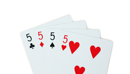 isolated clubs diamonds spades hearts 5 Stock Photo