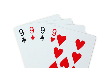 isolated clubs diamonds spades hearts 9