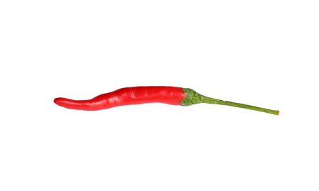 capsaicin: Red Hot Chili Peppers on white background