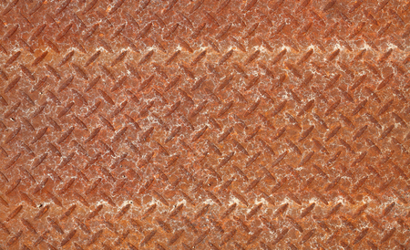 checker plate: rusty steel plate texture background