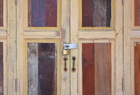 large doors: large wooden doors, The Thai style vintage wooden door.