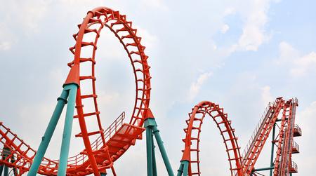 Roller coaster Archivio Fotografico
