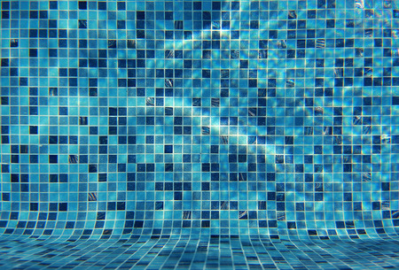 Water wave in swimming pool with light reflecting. Texture background. Reklamní fotografie - 95638332