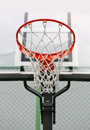 Low angle view outdoor basketball