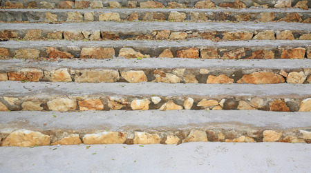Close-up Stone stairs in public park