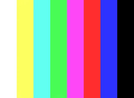 No signal and Color bar test on television screen background.