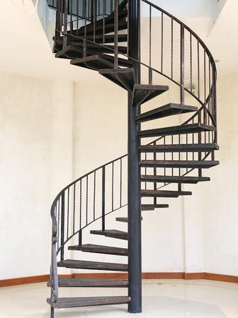 Metal iron circle stair. Stock fotó