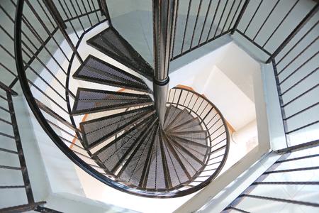 Metal iron circle stair. Reklamní fotografie