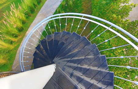 Spiral staircase outdoors