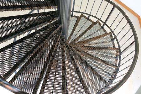 Spiral metal staircase Reklamní fotografie