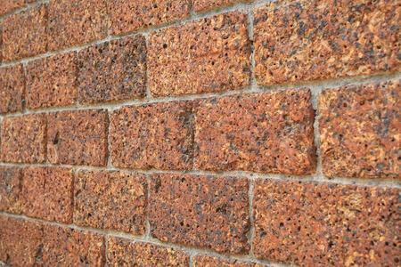 Perspective old vintage brick wall