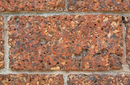 Close up old vintage brick wall Stock Photo