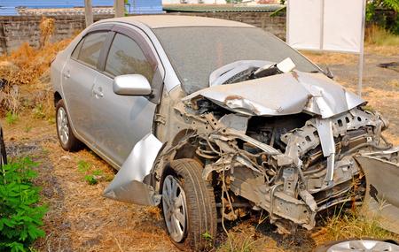 Old car crash background. Reklamní fotografie