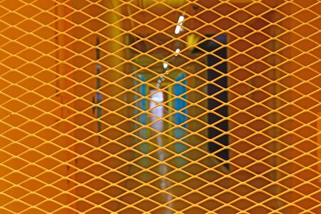 Yellow grating steel for background