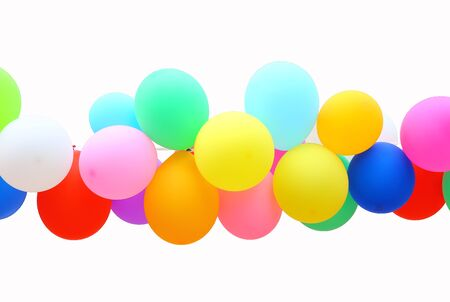 bunter Ballon isoliert auf weißem Hintergrund.