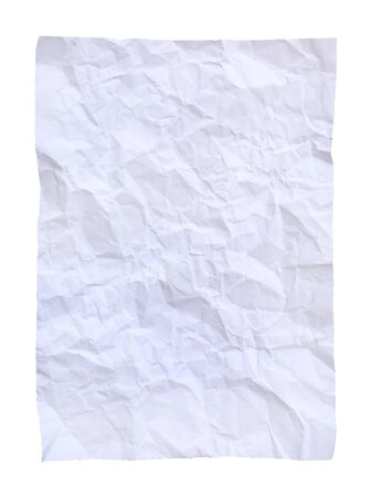 square crumpled paper on a white background. Stockfoto