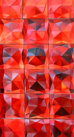 Red crystal facet background Banco de Imagens