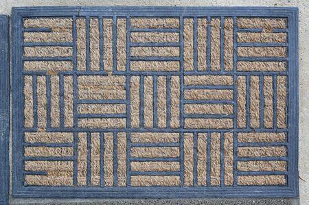 Feet doormat or carpet texture