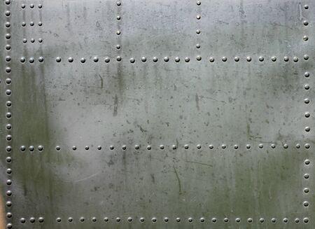 군사 기갑의 금속 표면