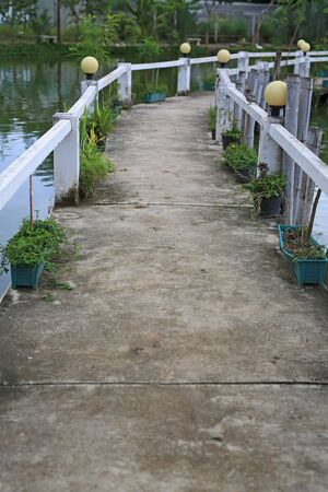 Cement Walkway bridge over river