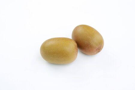 Fresh Kiwi fruit isolated on white background.
