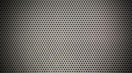 Background sheet of metal of circular holes