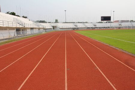 Running track and stadium field