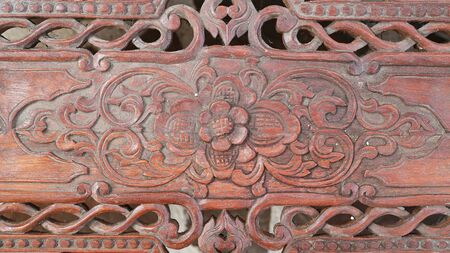 Ancient Thai style wood craft