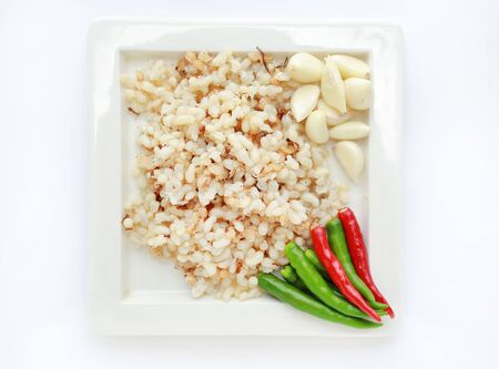 Raw food of the Spicy Salad Egg of Ant, Traditional Thai Style Food.