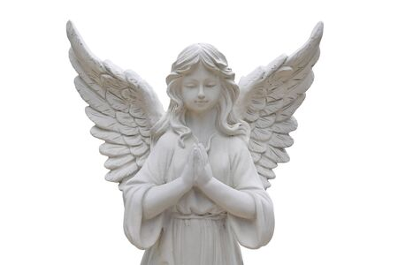 Angel statues isolated on white background. Archivio Fotografico - 128858445