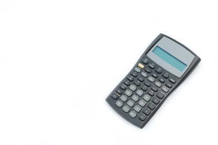 Scientific calculator with copy space on white isolated background Banco de Imagens