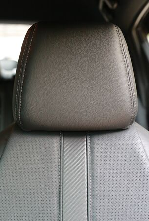 Close-up Leather car seat