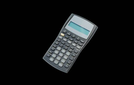 Scientific calculator on black isolated background